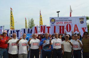 Deklarasi Anti-Hoax Polres Kutim dan FKPD