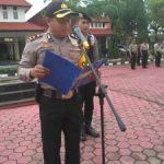 Waka Polres Kutai Timur Kompol Supriyanto,SIK mengambil apel jam pimpinan