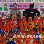 Edukasi Anak Usia Dini, Satlantas Polres Kutim Bawa Super Hero Kunjungi TK IT Darussalam