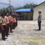 Anggota Sat Lantas Polres Kutim Melaksanakan Giat Pramuka Saka Bhayangkara