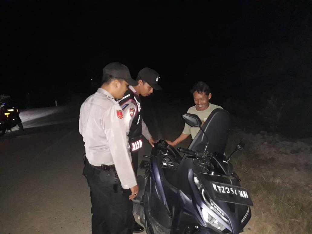 Rawan Begal, Polsek Rantau Pulung Patroli Jalan Daerah