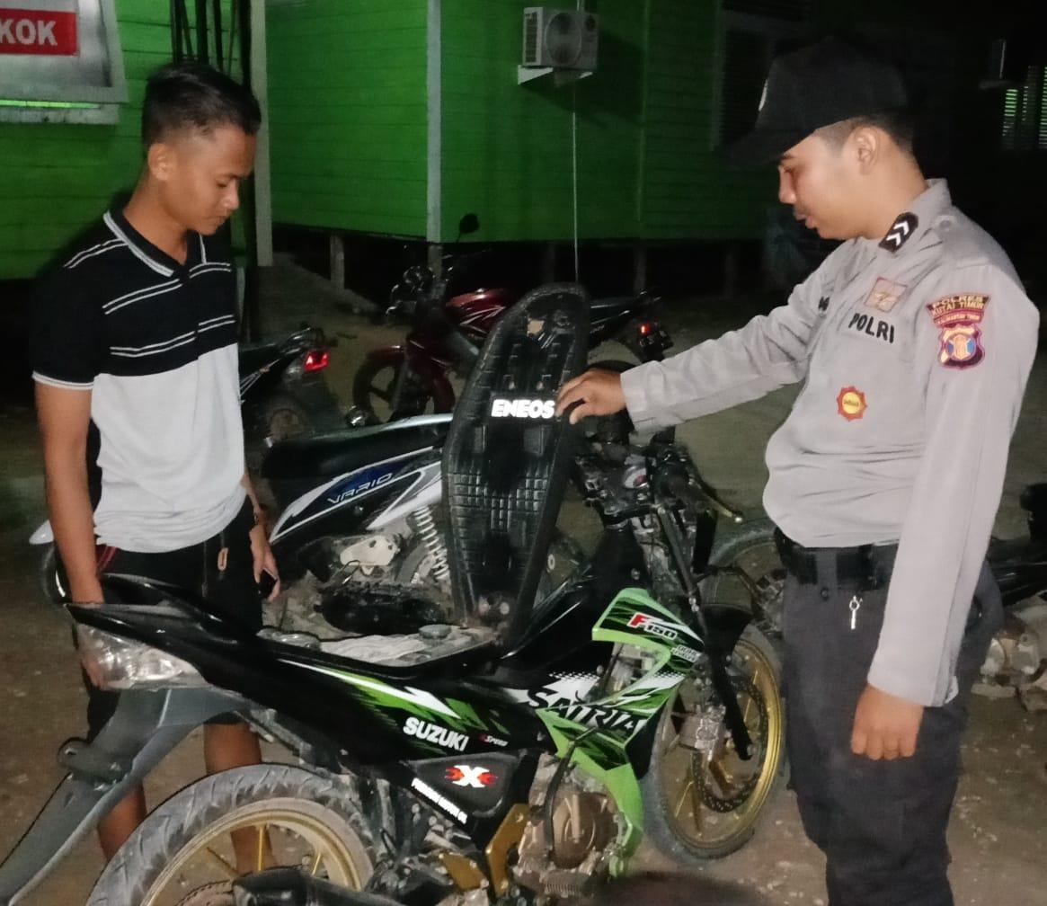 Rawan Pencurian, Personil Polsek Bengkal Patroli SPBU