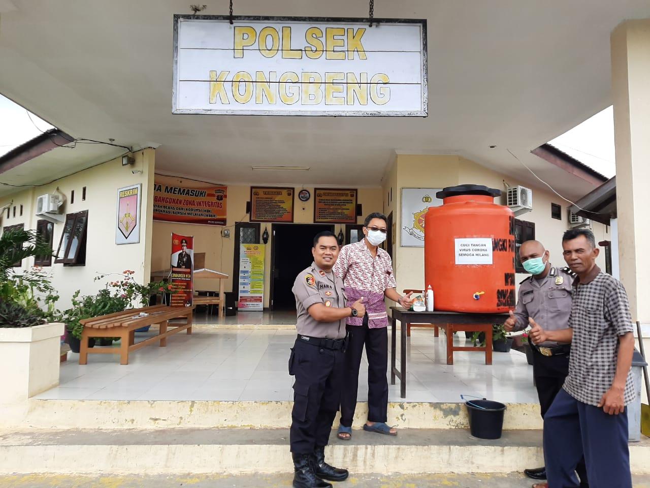 Pertama di Kalimantan Timur, Tempat Cuci Tangan Umum Ada di Polsek Kongbeng