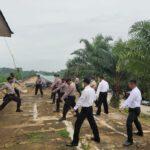 Tingkatkan Kemampuan Individu, Polres Kutim Sektor Kaliorang Kembali Laksanakan Latihan Beladiri Polri