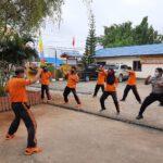 Tingkatkan Kemampuan Individu, Polres Kutim Sektor Sangatta Utara Kembali Laksanakan Latihan Beladiri Polri