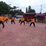 Tingkatkan Kemampuan Individu, Polres Kutim Sektor Bengalon Kembali Laksanakan Latihan Beladiri Polri