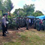 Jalin Sinegritas TNI – Polri, Kapolsek Sangatta Utara Hadiri Upacara Pemakaman Serda Didik Hariyanto