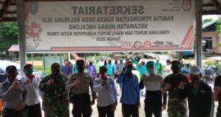 Laksanakan Operasi Aman Nusa II, Polsek Muara Ancalong Gelar Penyemprotan Desinfektan