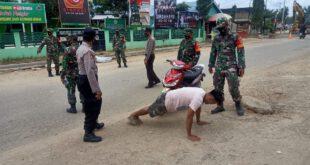 Polsek Muara Wahau Polres Kutim Bersama TNI dan Satpol PP Gelar Operasi Yustisi Covid-19