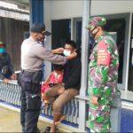 Kampanyekan Gerakan Kutim Bermasker, Polres Kutim Hingga Polsek Jajaran Bagikan Masker