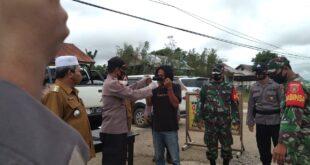 Polsek Muara Wahau Gelar Operasi Yustisi Cegah Penyebaran Covid-19 Di Kecamatan Muara Wahau