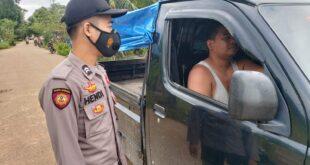Jauh Dari Kota, Polsek Muara Ancalong Tetap Himbau Warganya Waspada Covid-19