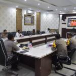 Kapolres Kutim Hadiri Vicon Wakapolda Kaltim, Bahas Situasi Covid-19 dan Program Prioritas Kapolri