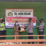 Kabagren Polres Kutim Pimpin Baksos Salurkan Bantuan Pangan Ke Pondok Pesantren