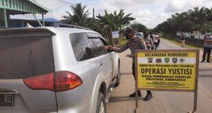 Polsek Kongbeng Gelar Operasi Yustisi, Bagikan Masker dan Ingatkan Prokes