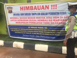 Rawan Premanisme, Sat Lantas Polres Kutim Patroli SPBU