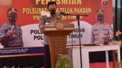 Ubah Status Polsubsektor Teluk Pandan, Kapolres Kutim Resmikan Langsung Menjadi Polsek