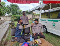 Patroli Kesehatan, Tim Urkes Polres Kutim Laksanakan Cek Kesehatan Di Akhir Ramadhan