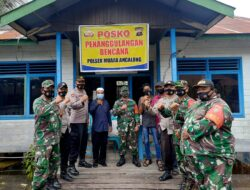 Waspada Banjir Yang Tak Kunjung Surut, Polsek Muara Ancalong Dirikan Posko Tanggap Bencana