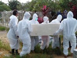 Misi Kemanusiaan, Polsek Sangatta Utara Bantu Pemakaman Korban Covid – 19