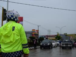 Peringati Hari Kemerdekaan RI 76, Polres Kutim Dan Personil Gabungan Laksanakan Ceremony On The Road