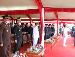 Peringati Hari Kemerdekaan RI 76, Kapolres Kutim Bersama FKPD Laksanakan Upacara Bendera
