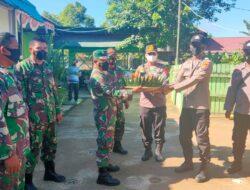 Dalam Rangka HUT TNI Ke – 76, Kapolsek Muara Bengkal Bersilaturahmi Ke Koramil Muara Bengkal 0909-05