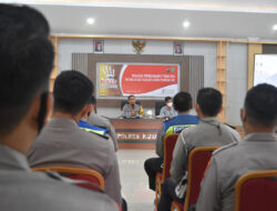 Wakapolres Kutim Pimpin Sosialisasi Peratuan Presiden Nomor 87 Tahun 2016 Tentang Satgas Saber Pungli