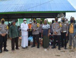 Berikan Bantuan Pangan Dan Logistik Kepada Pondok Pesantren Yang Terbakar, Kapolres Kutim : Semoga Dapat Meringankan Beban