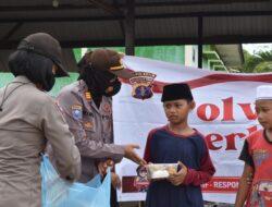 Kasat Binmas Polres Kutim Lakukan Trauma Healing Kepada Santri Pondok Pesantren Daarush Sholah