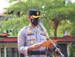 Polres Kutim Apel Gelar Pergeseran Pasukan Pengamanan Pilkades 2021 Kabupaten Kutai Timur